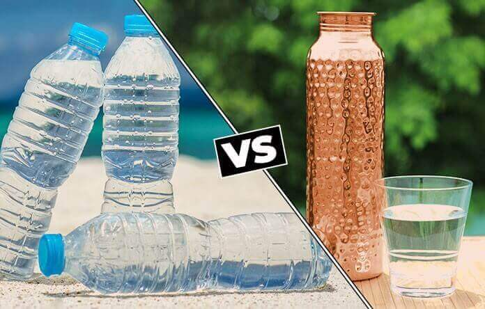 Plastic vs Copper Water Bottle