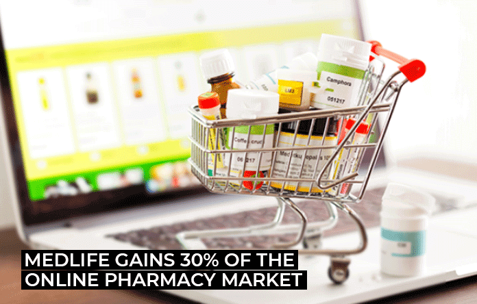 Medlife Gains 30% of The Online Pharmacy Market